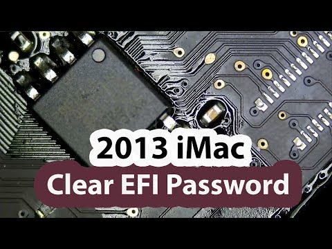 2013 IMac Remove And Unlock EFI Bios Password Using TL866II+ EEPROM Programmer