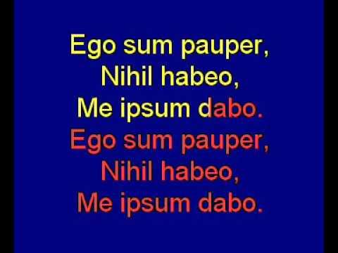 Ego sum pauper