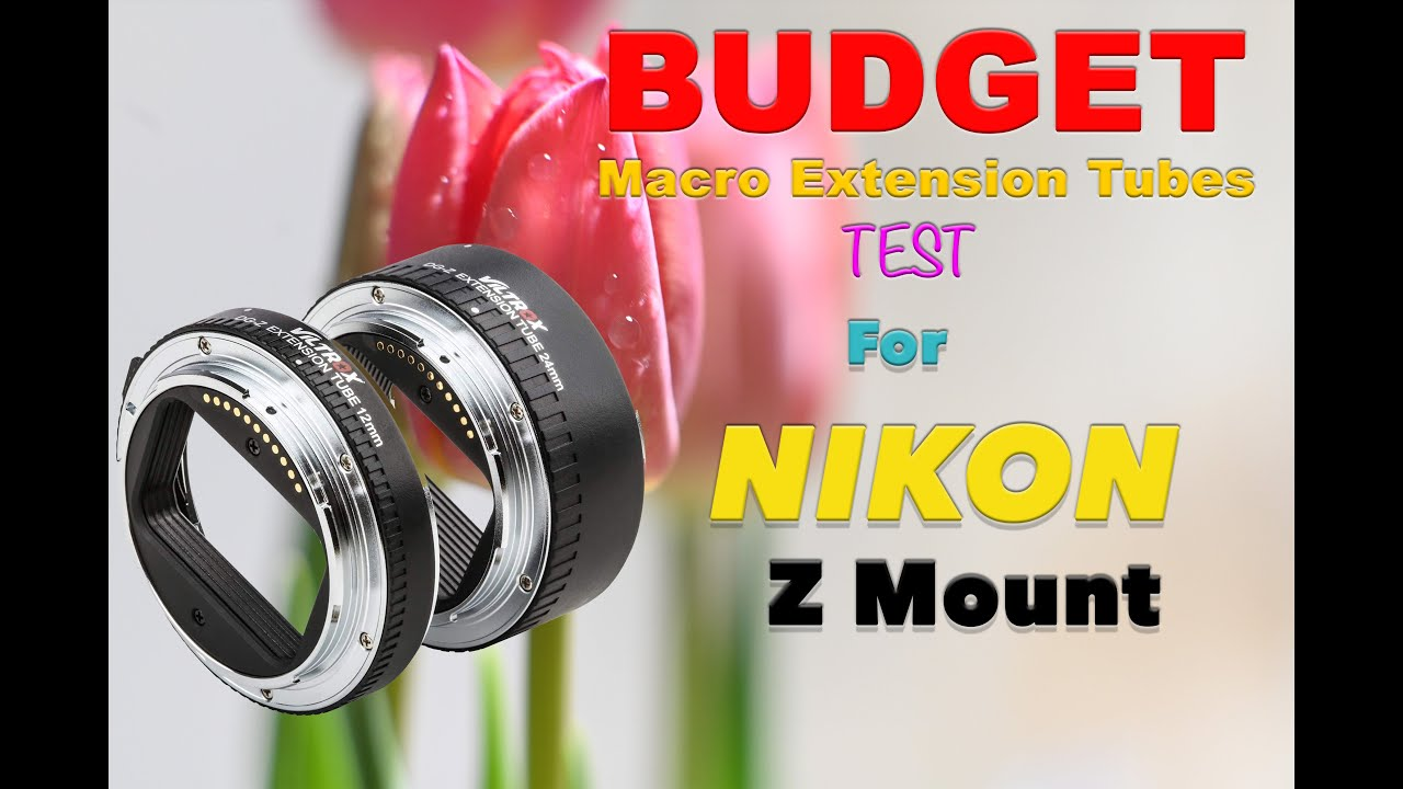 VILTROX DG-Z Metal Mount Auto Focus AF Macro Extension Tube Ring Set 12mm,24mm for Nikon Z6 Z7 Z50 Z Mount Mirrorless Camera and Lens