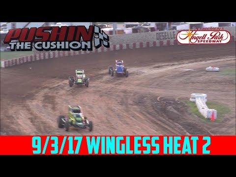 Angell Park Speedway - 9/3/17 - Wingless - Heat 2