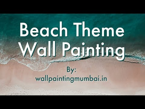Beach themed wall murals handmade youtube for Wall scenes