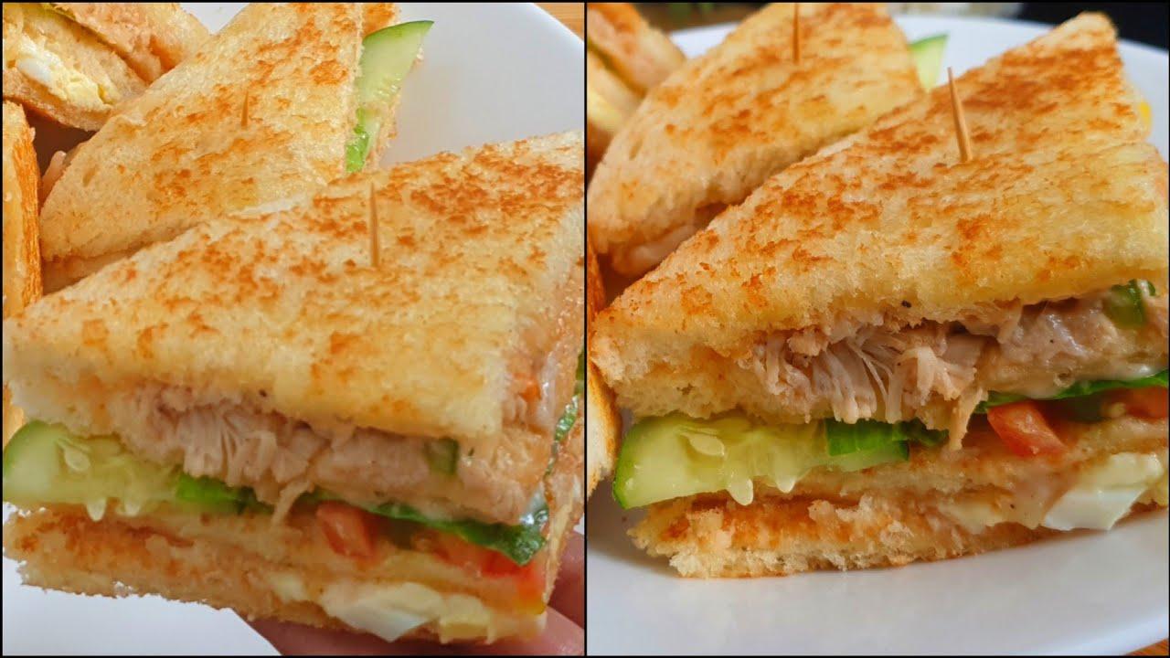 Classic Club Sandwiches At Home ♥️ | Chicken Club Sandwiches Recipe ♥️