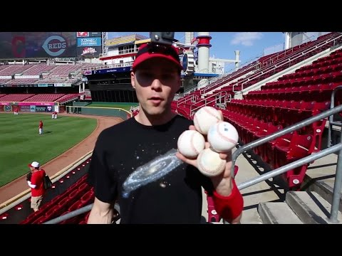 Finding baseballs at Great American Ball Park