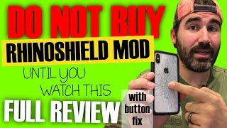 RhinoShield Mod Case - WATCH BEFORE YOU BUY!!! - 1 Month Full Review (+ Power Button Fix!)