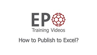 How to Publish to Excel?