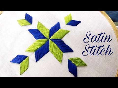 Satin Stitch/Phulkari Stitch (Hand Embroidery Work)