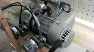 2 Zylinder pocket bike Motor
