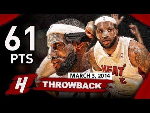 The Game MASKED LeBron James BECAME a LEGEND 2014.03.03 vs Bobcats - 61 Points, EPIC NIGHT!