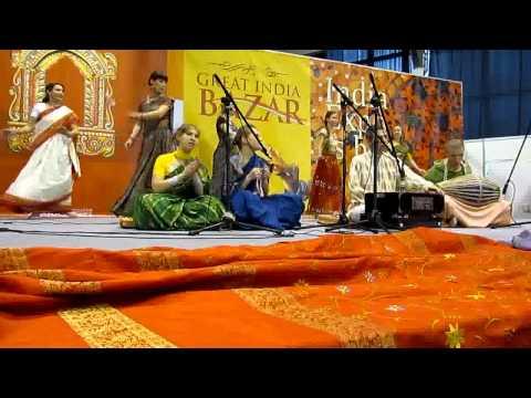 """Vrindavan"" - Kirtan in Great India Bazar 26.11.11 (part 1)"