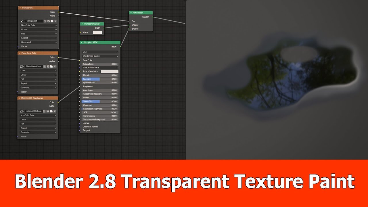 Blender 2 8 Texture Painting Transparency Blendernation