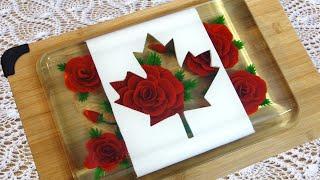 Canada Day Jelly Art - Gelatin Art Dessert