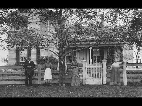Tintypes of American Houses in the Victorian Era From the Late 1800s
