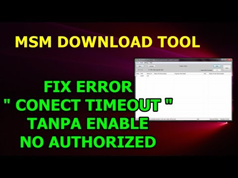 Flashing Oppo A71 2018 Cph1801ex Fix Msmdownload Tool | Click Start, Connect Timeout, Unauthorized.