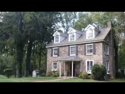Bucks County PA Real Estate: Stone Farmhouse on 18+ acres
