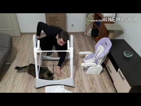 Как собрать стульчик для кормления ( Babyton)