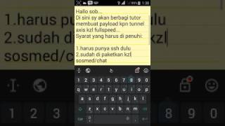 Tutorial membuat payload axis kpn tunnel fullspeed