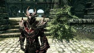 Skyrim Daedric Armor and weapon Improvement (Mod)