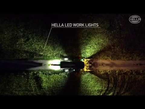 Fari da lavoro a led hella per illuminazione del campo - Fari da incasso per esterno ...