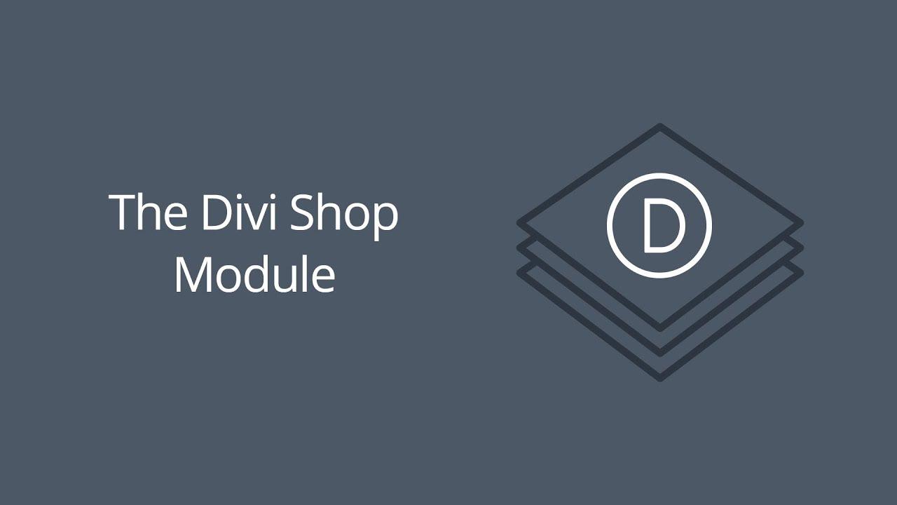 The Divi Shop Module | Elegant Themes Documentation
