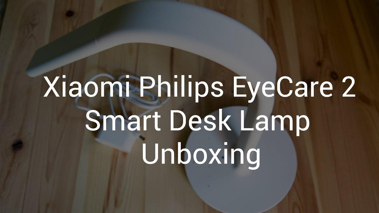 Xiaomi Mi Philips Eyecare Smart Lamp 2 Unboxing Youtube