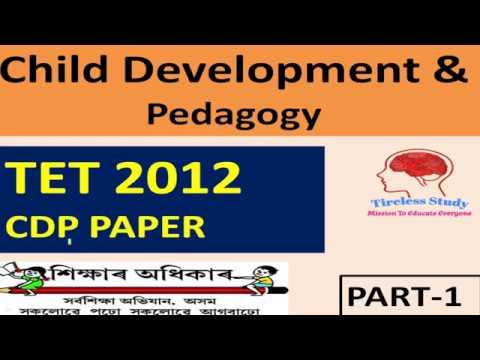 Assam TET 2012 Question Paper Solution || Child Development Pedagogy MCQ's Part-1
