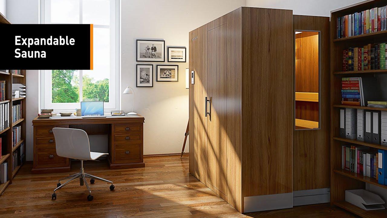 Superb The Closet That Doubles As An Expandable Sauna
