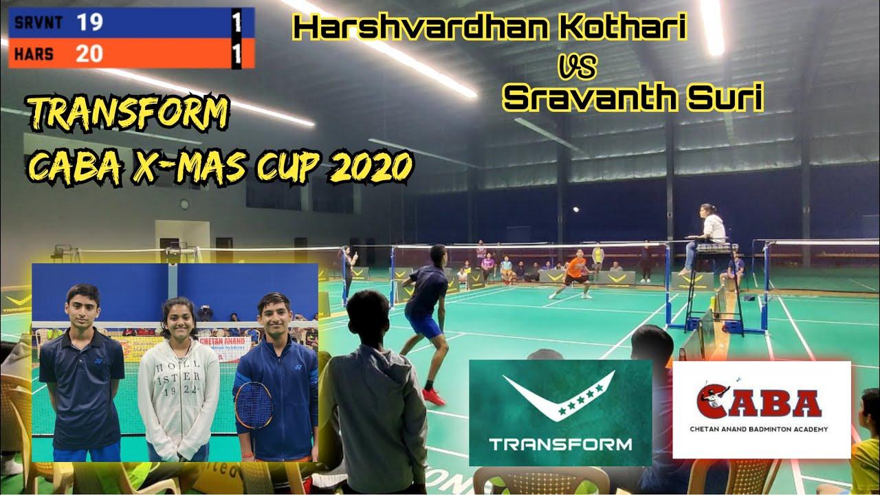 TRANSFORM FINAL CABA X-MAS CUP 2020 : Harshvardhan Kothari vs Sravanth Suri
