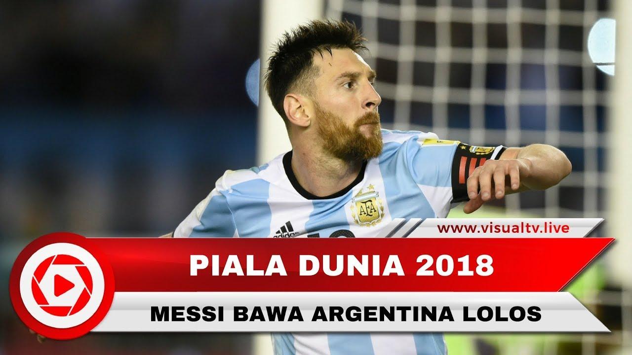 Argentina VS Ekuador 3 1 Hattrick Messi Pastikan Argentina Ke Piala Dunia 2018