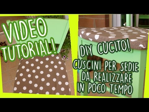 DIY cucito Cuscini per sedie da realizzare in poco tempo  Video tutorial  YouTube