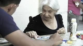 Nuestro equipo de la Sub 20 realizaron una visita a la Casa para Ancianos Monte Carmelo y convivieron en un ameno juego de lotería.