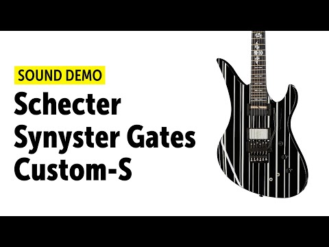 Schecter Synyster Gates Custom-S - Sound Demo (no talking)