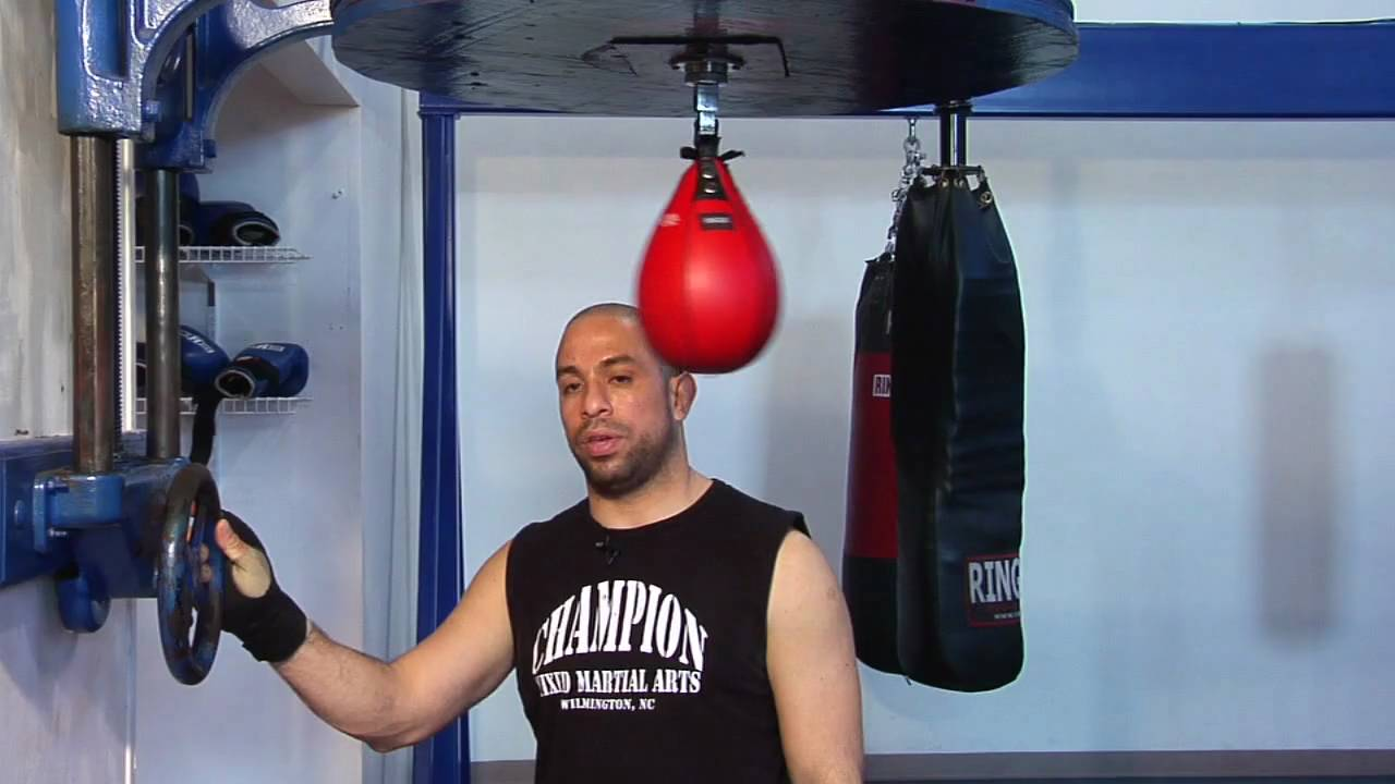 Boxing Skills What Is The Proper Height Of A Speed Bag