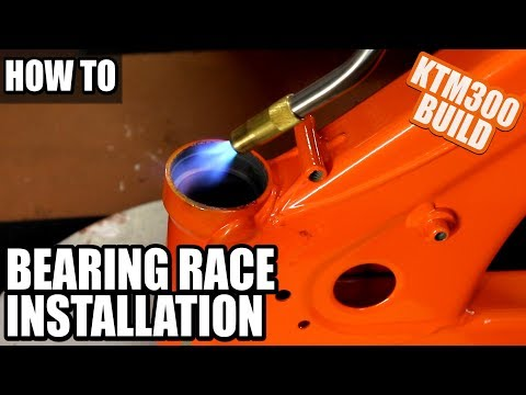 KTM 300 Build Part 12 - How To Install Steering Stem Bearing Race On A Dirt Bike