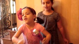 Summer Mia singing with Skye Bleu ....All About that Bass