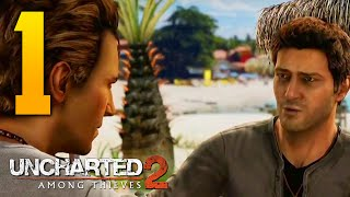 "Uncharted 2: Among Thieves Walkthrough - Part 1 ""TRAIN WRECK"" (Let"