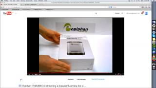 Live Streaming a Document Camera using an Epiphan DVI2USB 3.0 Video Grabber and Wirecast for YouTube