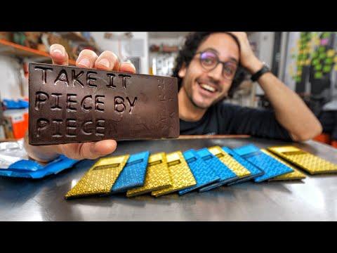 I Designed Custom Chocolate Bars Using Thermoforming...