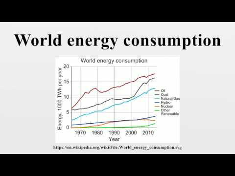 World energy consumption