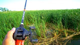 PUNCHING for Bass in THICC Grass!!!