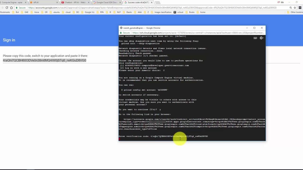 Chatbot Dialogflow / API AI Webhook on Google App Engine (Preparing for  BigQuery Integration )