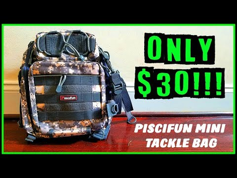 PISCIFUN WATERPROOF MINI TACKLE BAG: ONLY $30!! IS THIS THE FUTURE OF TACKLE BAGS?