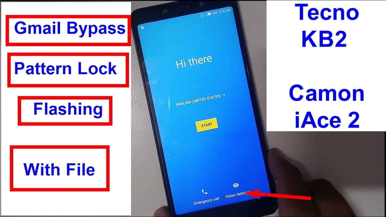 Tecno KB2 Camon iAce 2 Gmail Bypass And Flashing With Flash File by  Shortcut Tricks