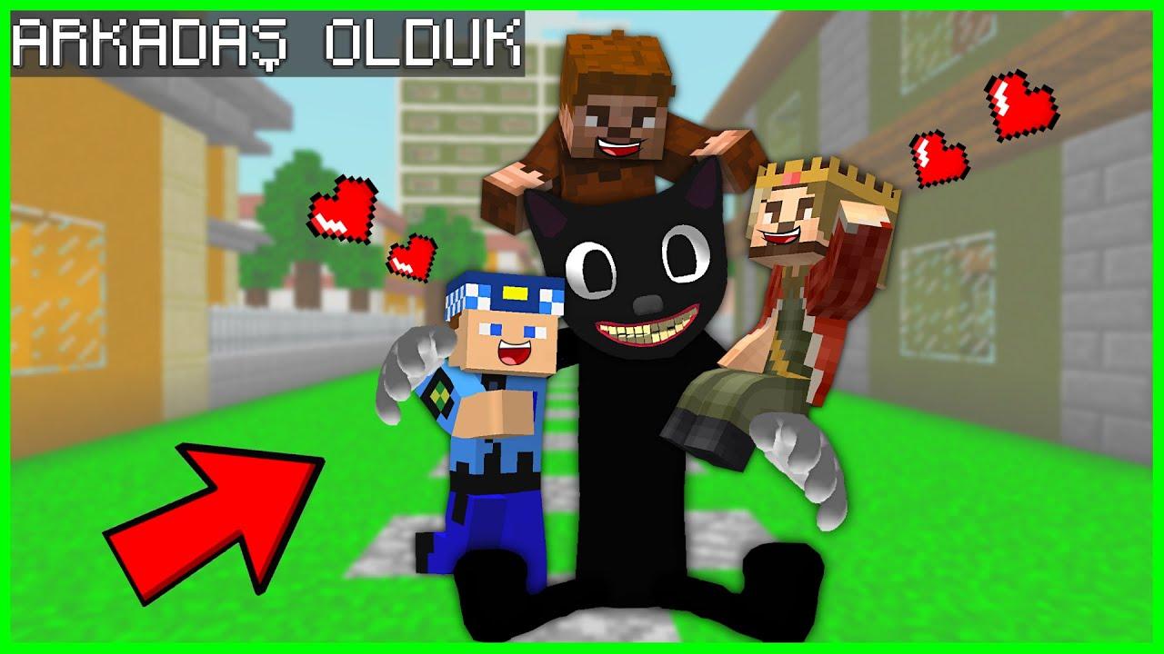 CARTOON CAT İLE FAKİR, ARKADAŞ OLDU! 😱 – Minecraft