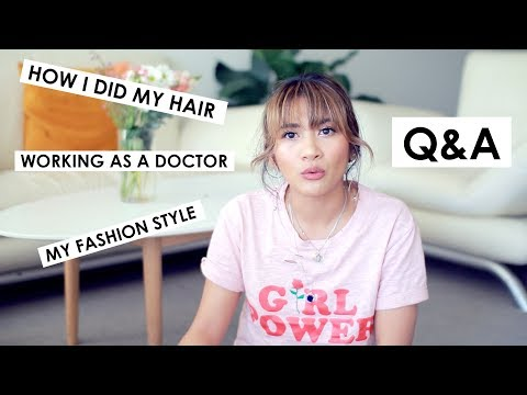 Q&A | Working as a doctor, How I did my hair, My fashion style