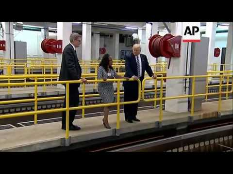 Trump Tours Flint Water Treatment Plant