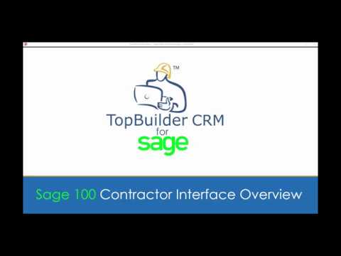 TopBuilder CRM for Sage Interface Demo
