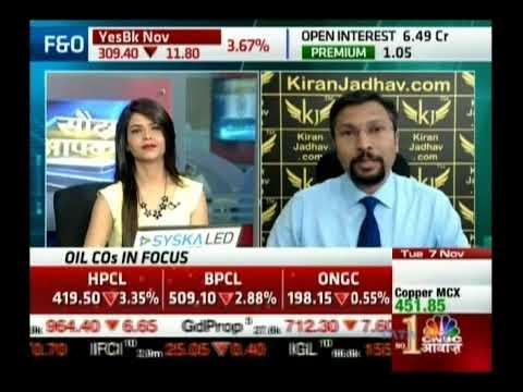Kiran Jadhav, Technical Analyst, KiranJadhav.com on CNBC Awaaz 7th Nov 2017