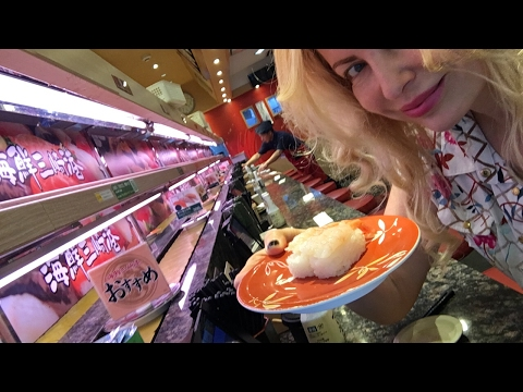 Adeyto trying Robotic digital Kaiten Sushi MISAKIKO 海鮮三崎港 Tokyo Japan