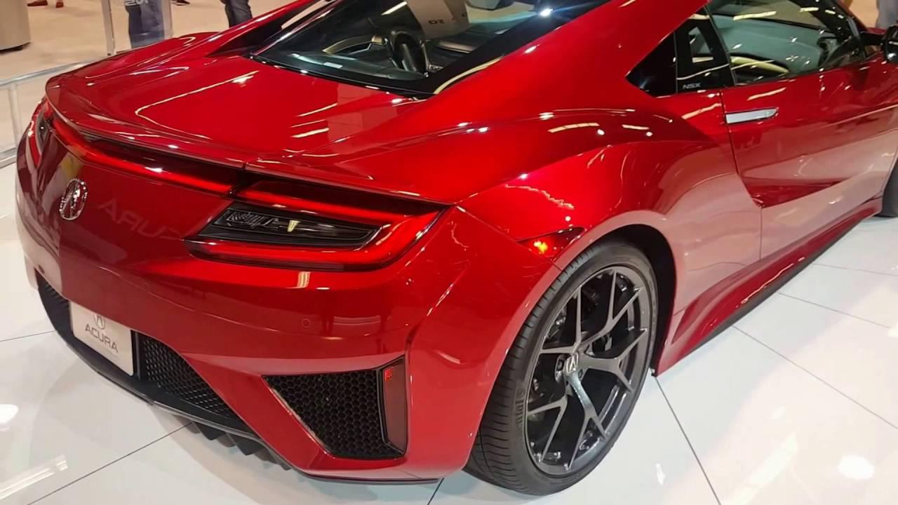 2017 Acura Nsx Valencia Red Pearl At Orange County Car Auto Show