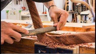 Carving A Boomerang From Brazilian Ipe